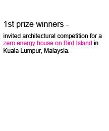 Zoka Zola Architecture 1st prize for Zero Energy House in Kuala Lumpur, Malaysia