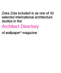 Zoka Zola included in wallpaper magazine architect directory