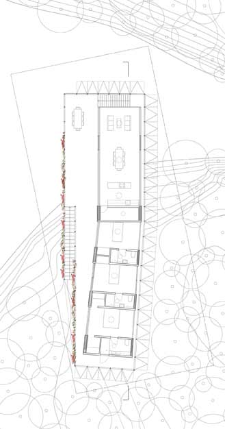 Zoka Zola, Passiflora Zero Energy House, floor plan, large terrace, independently controlled climate zones