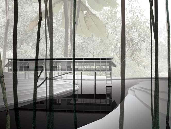 Zoka Zola, Passiflora Zero Energy House, natural ventilation, building in nature, shaded spaces, large terrace