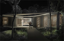 Zoka Zola, Rafflesia Zero Energy Home in tropical climate, green tropical home, exterior night view