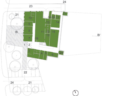 Zoka Zola, nursing home, basement floor plan