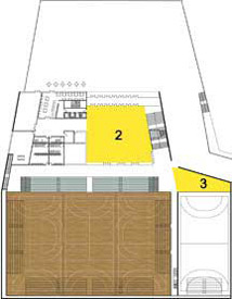 Zoka Zola, sports hall and event venue, Croatia, floor plan