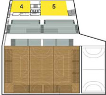 Zoka Zola, sports hall and event venue, Croatia, floor plan<empty>